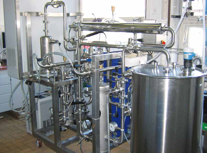 Pilot plant for electrochemical water treatment